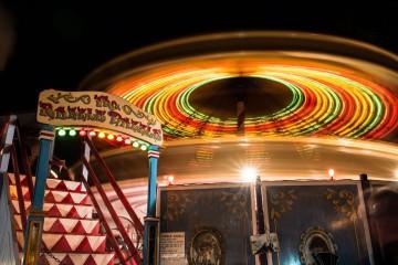 Razzle Dazzle at a Fairground at Night opening