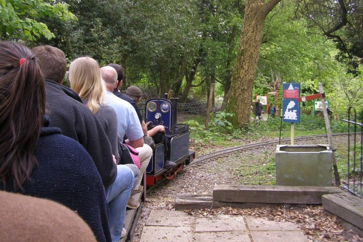 Aboard the Hollycombe miniature Garden Railway