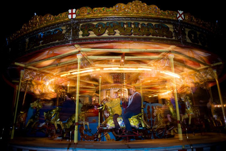 Gallopers at night
