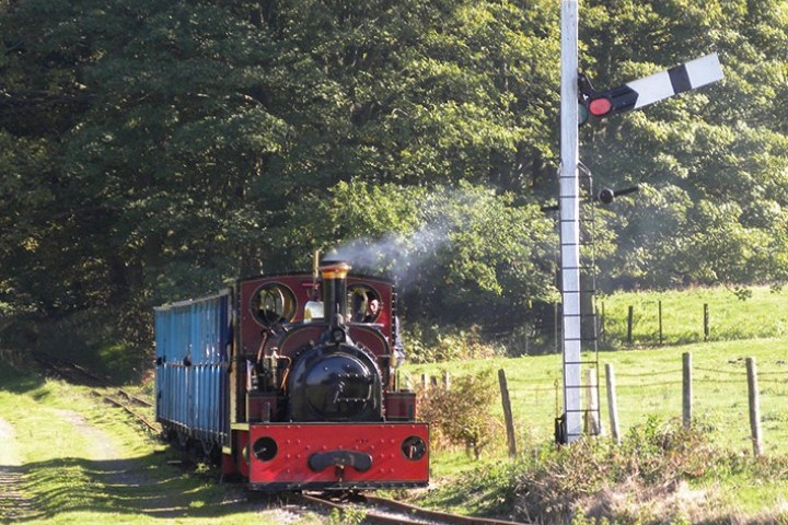 Jerry M on the Quarry Railway