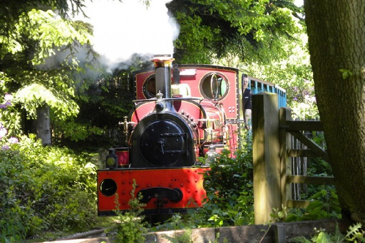 Jerry M storms up the hill on the Quarry Railway