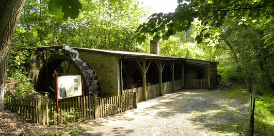 Waterwheel and beam engine barn